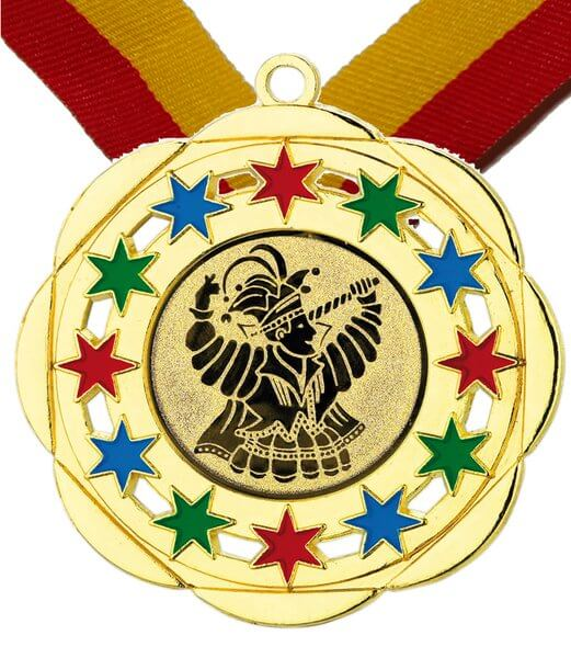 50 mm Karneval-/ Faschings Medaille